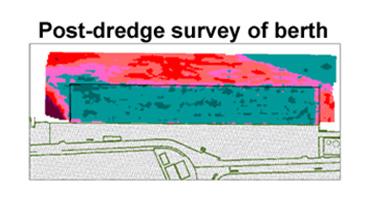 Post dredge survey of berth