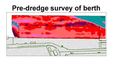 Pre dredge survey of berth