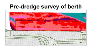 Pre dredge survey of berth